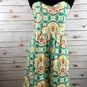 Judith March strapless dress medium green pockets